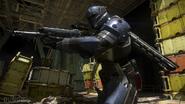Titan clutching a weapon