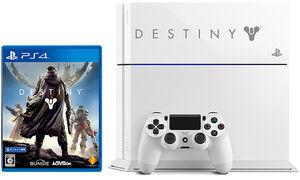 『Destiny』のロゴがレーザー刻印されたオリジナルデザインの『PlayStation 4 Destiny Pack Limited Edition』の筐体