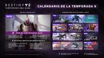 Destiny 2 Temporada del Alba calendario