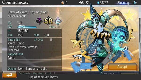 Joker of Water | Destiny of Spirits Wiki | FANDOM powered by