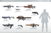 Destiny Weapon Size Reference
