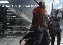 What are the destiny values