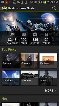 Destiny App Screenshot