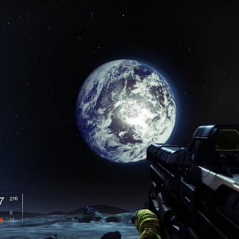 「地球の出」(Earthrise) の眺め