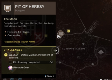 Location of Pit of Heresy