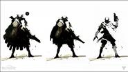 Black and white Fallen concept art