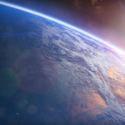 軌道上の地球