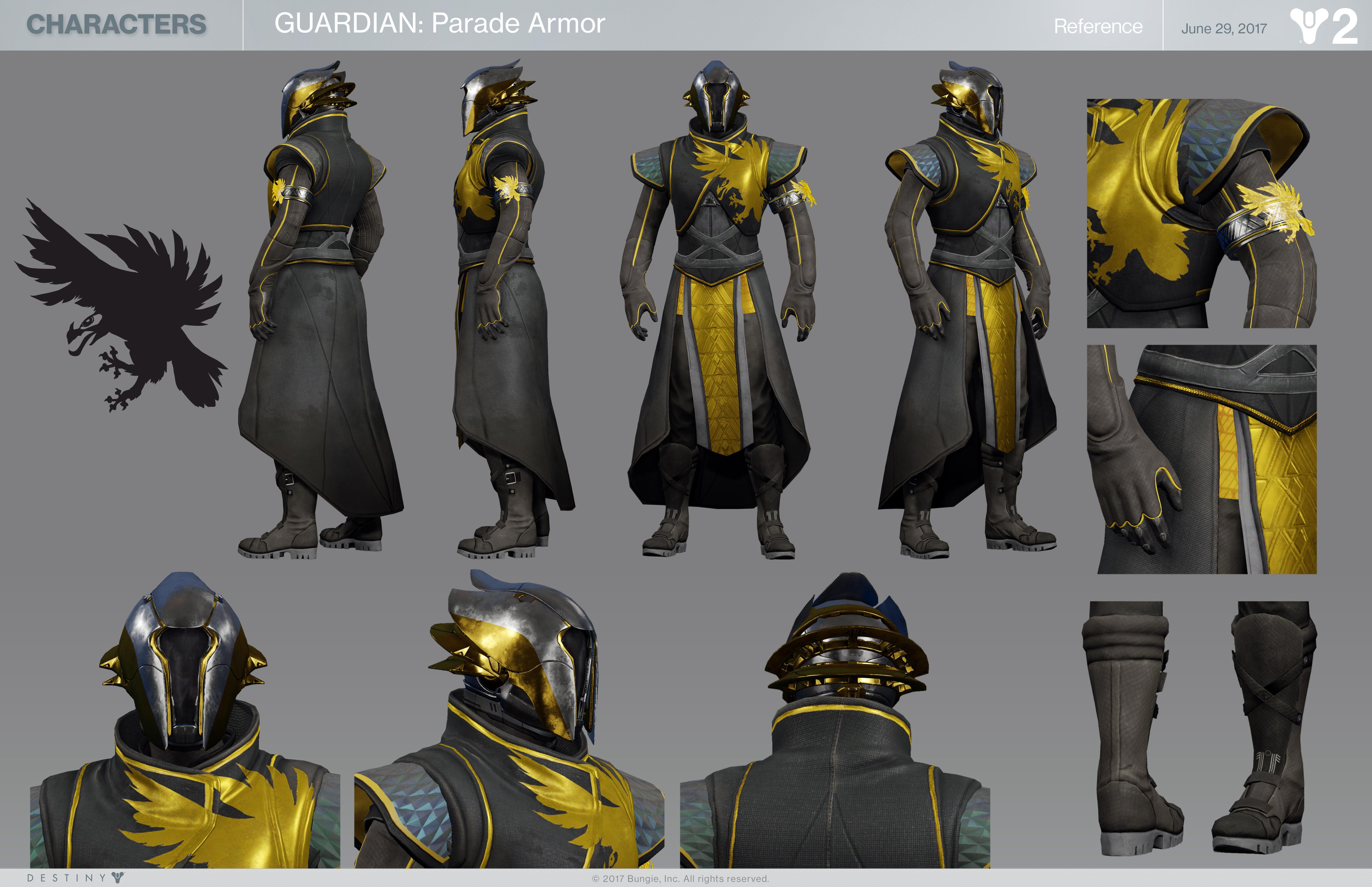 Destiny 2 Warlock Parade Armor Character Sheet