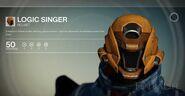 Logic singer-helmet