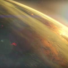 軌道からの金星の眺め
