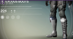 Exodus Boots (Hunter)