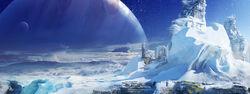 Destinyに登場するエウロパのコンセプトアート。