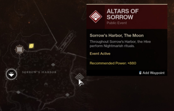 Altars of Sorrow Location