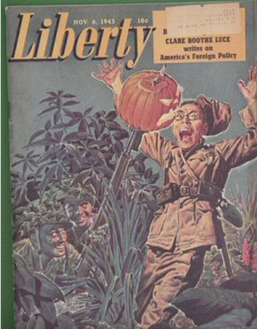 File:American soldiers scare Jap with jack-o-lantern.png