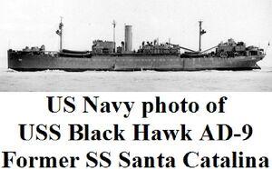 USS Black Hawk former SS Santa Catalina