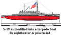 S-19 converted into torpedo boat.png