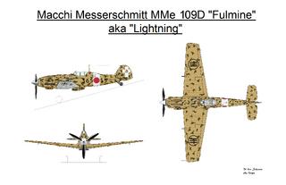 Macchi Messerschmitt MMe 109D w Meatball