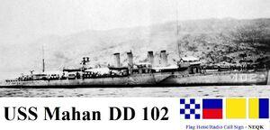 USS Mahan DD 102 as a minelayer
