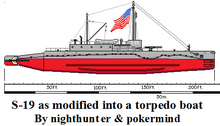 S-19 converted into torpedo boat-0