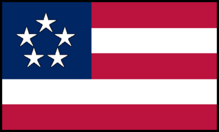 Flag of the New United States 1847 Americans