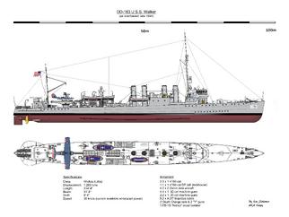 DD-163 USS Walker 1944 Overhaul