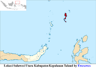 Lokasi Sulawesi Utara Kabupaten Kepulauan Talaud by Ewesewes