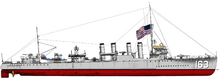 USS Walker color by fan artist Brian Alexander