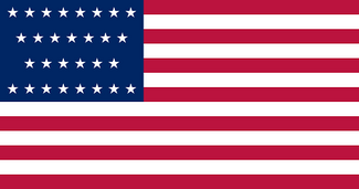 Flag of of United States (1847-48) 29 stars