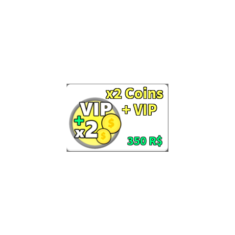 The image for the x2 Coins + VIP Gamepass
