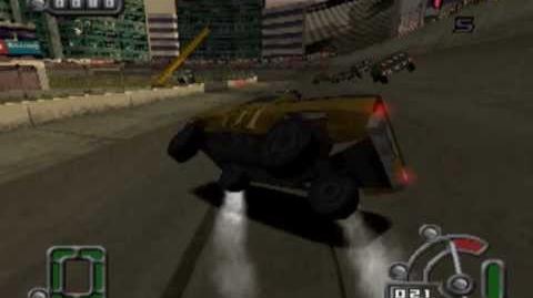 Destruction Derby Raw - Monsterwheel gameplay