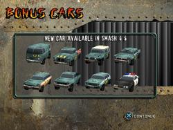 New Bonus Cars Screen