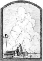 Baudelaires chegando à cidade