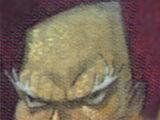Homem careca de nariz comprido