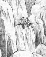 Quigley e Violet na montanha
