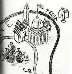 Tédia - mapa