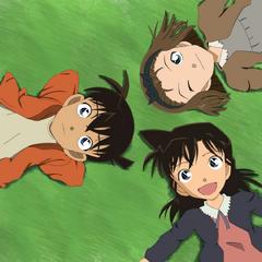 Ran, Sonoko y Shinichi de niños