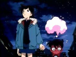 Ran telling Conan she likes Shinichi