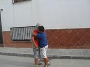 Pepito y Beba abrazo pregrabado