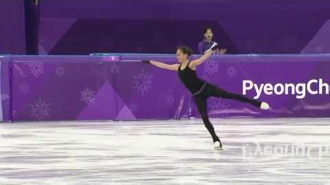 Алина Загитова исполняет каскад из 5 тройных прыжков