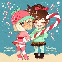 Taffyta and vanellope by alyson676-d5zsmea