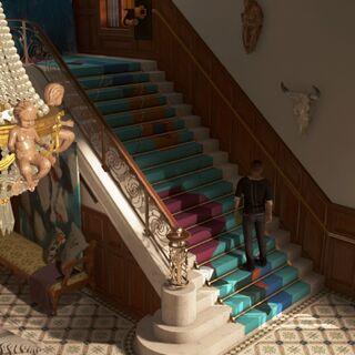 Haupttreppe im Eingangsflur