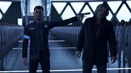 Connor-60 holds hank hostage