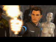 Connor shoots Markus in Battle in Detroit.