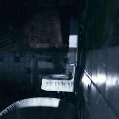 Das Badezimmer in Ruperts Apartment