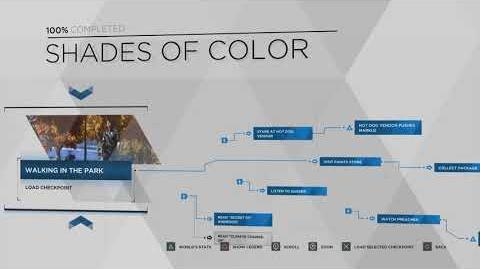 Detroit Become Human - Shades of Color Flowchart - 100% Walkthrough