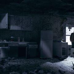Die Küche in Ruperts Apartment