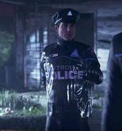 Police Android with raincoat