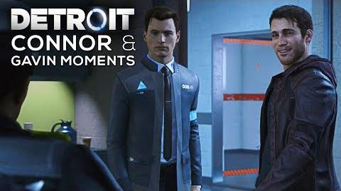 Connor and Gavin Moments (All Dialogue and Scenes with Gavin) - DETROIT BECOME HUMAN