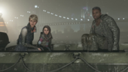 Kara, Alice and Luther, Battle for Detroit, crossing the river