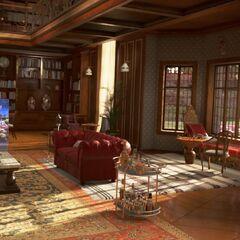 Das Wohnzimmer mit Schachecke